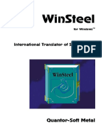 Winsteel Manual