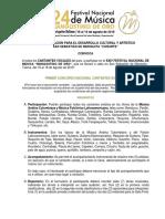 Bases Reglamentarias Cantantes Mangostino de Oro 2019