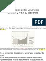 Comparación de Los Volúmenes de CSTR y PFR