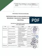R.S Nº 064 Protocolo N 002 2016 SUNAFIL Protocolo Para La Fiscalizacion En Materia De Seguridad Y Salud En El Trabajo Sector Industrial.pdf