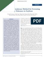 A Simple Greenhouse Method for Screening Salt Tolerance in Soybean