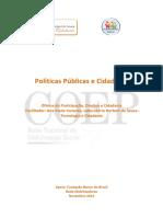 Cartilha Politicas Publicas e Cidadania