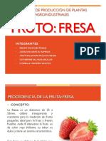 Trabajo de Fresa