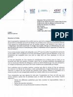 Le courrier des socioprofessionnels de Corse au préfet de la région PACA