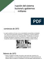 Interrupción Del Sistema Constitucional y Gobiernos Militares Primera Parte