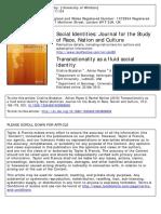 Bradatan, C., Popan, A., & Melton, R. (2010). Transnationality as a Fluid Social Identity. Social Identities, 16(2), 169–178.