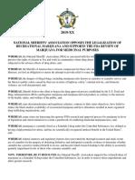 UPDATED NSA Marijuana Resolution 2019-10