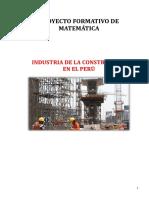 Proyecto formativo de matemáticas