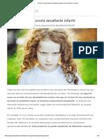 Trastorno Oposicionista Desafiante Infantil_ Sus Síntomas y Causas