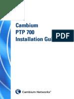 Cambium PTP 700 Series Installation Guide