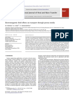 Electromagnetic Field Effects on Transport Through Porous Media