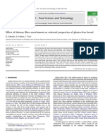 Effect of Dietary Fibre Enrichment on Selected Properties of Gluten-free Bread, Sabanis 2009