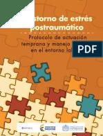 TRASTORNO de ESTROS POSTRAUMATICO Protocolo de Actuacion Temprana y Manejo de Casos en El Entorno Laboral