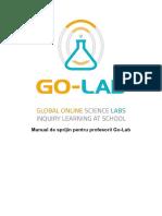 Go-Lab - Manual de Sprijin Pentru Profesorii Go-Lab - RO