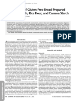 Optimization of Gluten-Free Bread Preparedfrom Cornstarch, Rice Flour, And Cassava Starch, Sanchey 2006