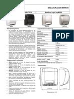 Secadoras de Manos Automaticas Mediflow Logicdry M02ACS