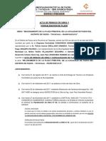 ACTA DE REINICIO DE OBRA PARQUE PARAL. N° 02