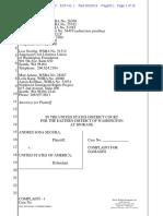 Segura v. United States of America Complaint