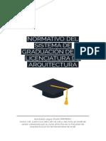 Normativo graduacion ARQUITECTURA USAC