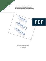 Trabajo Vernier y Micrometro