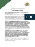 GUÍA N° 2  TEORIAS DE AUTORES SOBRE  DIDACTICA - copia