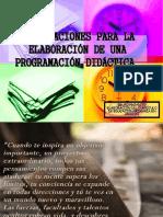 Orientaciones Para La Programacion de Una Unidad Didactica