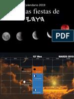 Calendario 2019-20 Fiestas de Yahwah
