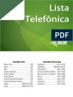 Lista Telefônica UEM