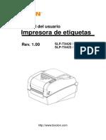 Manual Slp-tx420x Tx423x User Spanish Rev 1 00