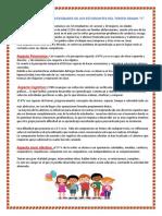 Características y Necesidades de Los Estudiantes Del Tercer Grado