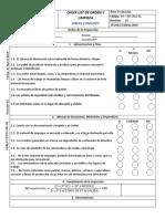Check List de Orden y Limpieza