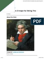Beethoven Serenata Op. 8