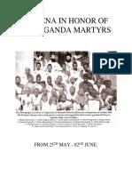 Novena in Honor of Uganda Martyrs