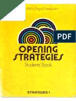 Opening Strategies - Strategies 1 - Students Book