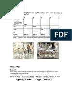 INFORME quimica laboratorio USMP Medicina Humana