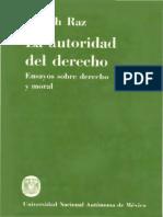 raz, j. (1985). la autoridad del derecho. ensayo sobre derecho y moral. universidad nacional autónoma de méxico (1985).pdf