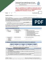Cuestionario - Conflicto Lal y Clima Organizacional