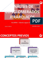 Analisís de Conglomerado Jerárquico