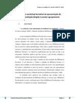 Planificação de um workshop formativo de apresentação do Modelo de Auto