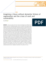 Imagining a Future Without Dementia Fictions of Regeneration and the Crises of Work and Sustainability2017Palgrave Communications