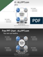4 Circle Porcess PPT Diagram Widescreen1