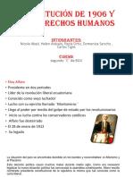 Constitución de 1906 y Los Derechos Humanos