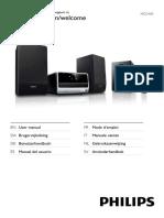 Manual Micro Cine Philips MCD 183