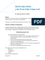 Trinitarianism - Examined by the Word of the Triune God