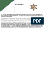 Redacted letter from Alpena County Sheriff Steve Kieliszewski to Undersheriff Terry King