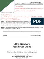 15 05 0290-02-003a Ultra Wideband Peak Power Limits