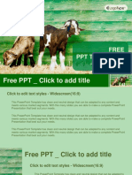 Little Goats PowerPoint Templates Widescreen