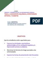 3.03. Cardiopatia Isquémica, Hipertensión Arterial y Diabetes (1)