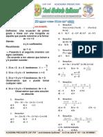 Tema 07....Ecuaciones de 1er Grado.....01!03!2019
