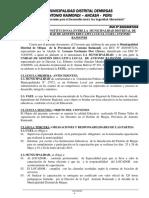 Convenio Interinstitucional Entre La Municipalidad Distrital de Mirgas y Unidad de Gestión Educativa Local